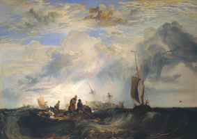 Джозеф Мэллорд Уильям Тёрнер. Маас: торговое судно с апельсинами на мели