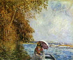 Alfred Sisley. On the boat