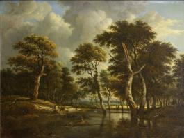 Jakob van Isaacs Ruisdael. Hunting