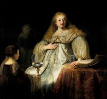 """Рембрандт Харменс ван Рейн. Юдифь на пиру у Олоферна (ранее известная как """"Артемисия"""")"""