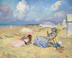 Henri Lebasque. On the beach
