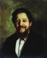 Николай Васильевич Неврев. Портрет смеющегося мужчины