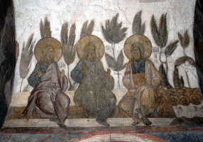 Андрей Рублев. Страшный суд: Иаков, Авраам и Исаак в раю