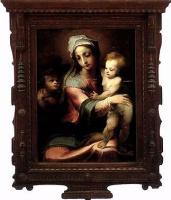 Доменико Беккафуми. Мадонна с младенцем и Иоанном Крестителем