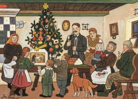 Josef Lada. Christmas tree
