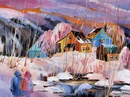 Сюзанна Фортье. Зимний пейзаж