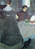 Эдмунд Дюлак. Дама и мужчина за столом