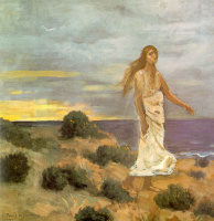 Пьер Сесиль Пюви де Шаванн. Девушка на берегу