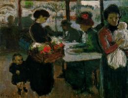 Пабло Пикассо. Кафе на Монмартре