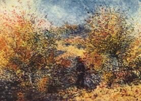 Pierre Auguste Renoir. Spring landscape