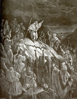 Поль Гюстав Доре. Иллюстрация к Библии: Маттафия призывает Иудеев к оружию