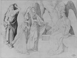 Julius Schnorr von Karolsfeld. The three Marys at the tomb