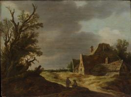 Ян ван Гойен. Песчаная дорога и ферма