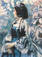Victor Elpidiforovich Borisov-Musatov. Woman in blue