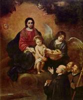 Бартоломе Эстебан Мурильо. Младенец Христос раздает хлеб паломникам