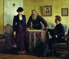 Николай Васильевич Неврев. Увещевание
