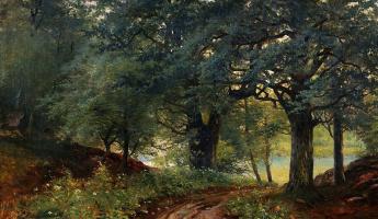 Андрей Николаевич Шильдер. Лесной пейзаж