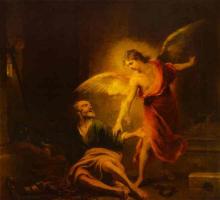 Бартоломе Эстебан Мурильо. Ангел спасает Святого Петра из тюрьмы