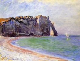 Claude Monet. Manneport, Etretat. Port d Aval