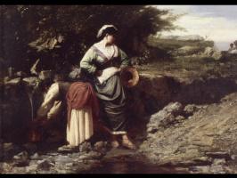 Жюль Бретон. Женщины носят воду