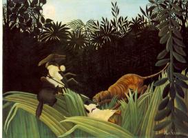 Анри Руссо. Нападение тигра