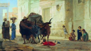 Fedor Andreevich Bronnikov. Children on the street of Pompeii. 1860