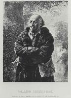 Адольф фон Менцель. Писатель Уильям Шекспир