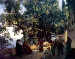 Sylvester Feodosievich Shchedrin. Terrace by the sea. Cappuccini near Sorrento