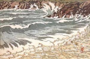 Анри (Henri) Ривьер (Rivière). Волна (La vague montante)