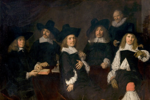 France Hals. Group portrait of the Regents of the asylum for the aged in Harlem