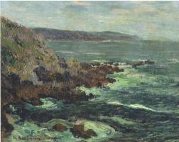Гюстав Луазо. Скалистые обрывы возле моря в Бретани