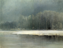 Алексей Кондратьевич Саврасов. Зимний пейзаж. Иней