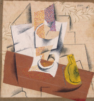 Pablo Picasso. Composition with a sliced pear