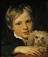 Александр Григорьевич Варнек. Мальчик с болонкой