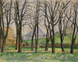 Paul Cezanne. Chestnut trees and Montagne Sainte-Victoire