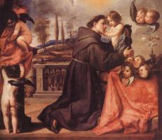 Антонио де Переда. Св. Антоний Падуанский с младенцем Христом