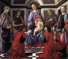 Сандро Боттичелли. Мадонна на троне со святыми