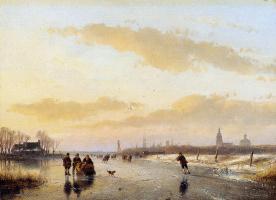 Андреас Схелфхаут. На замерзшей реке