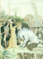 Кей Нильсен. Иллюстрация к сказке Храбрый портняжка