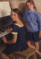 Зинаида Евгеньевна Серебрякова. Девочки у рояля