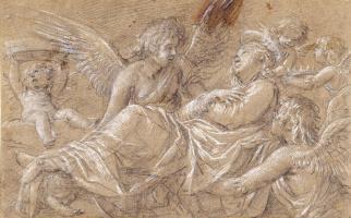 Джованни Бальоне (Баглионе). Вознесение святой Екатерины Александрийской. Эскиз