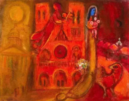 Marc Chagall. Praise Be To Paris. Notre Dame