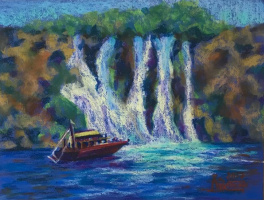 Лариса Луканева. Средиземное море. Экскурсия к водопаду.