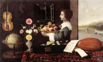 Себастьян Штоскопф. Девушка с корзиной фруктов