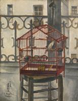 Цугухару Фудзита ( Леонар Фужита ). Клетка на балконе
