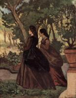 Джованни Фаттори. Две дамы в саду Кастильончелло