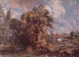 Джон Констебл. Вид на реку