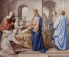 Иоганн Фридрих Овербек. Христос воскрешает дочь Иаира
