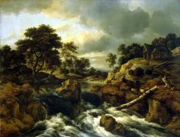 Jakob van Isaacs Ruisdael. Waterfall in norway