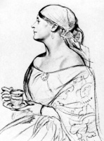 Борис Михайлович Кустодиев. Женщина с чашкой  Портрет Л.И. Шеталовой
